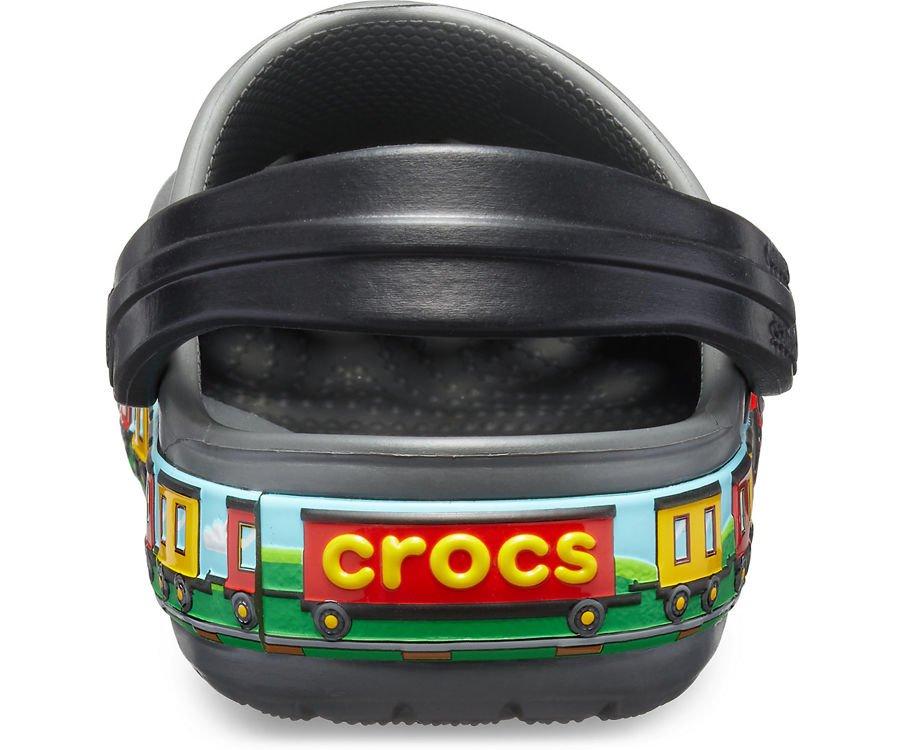 CROCS_Szare Sandały Pociąg 205516 0DA